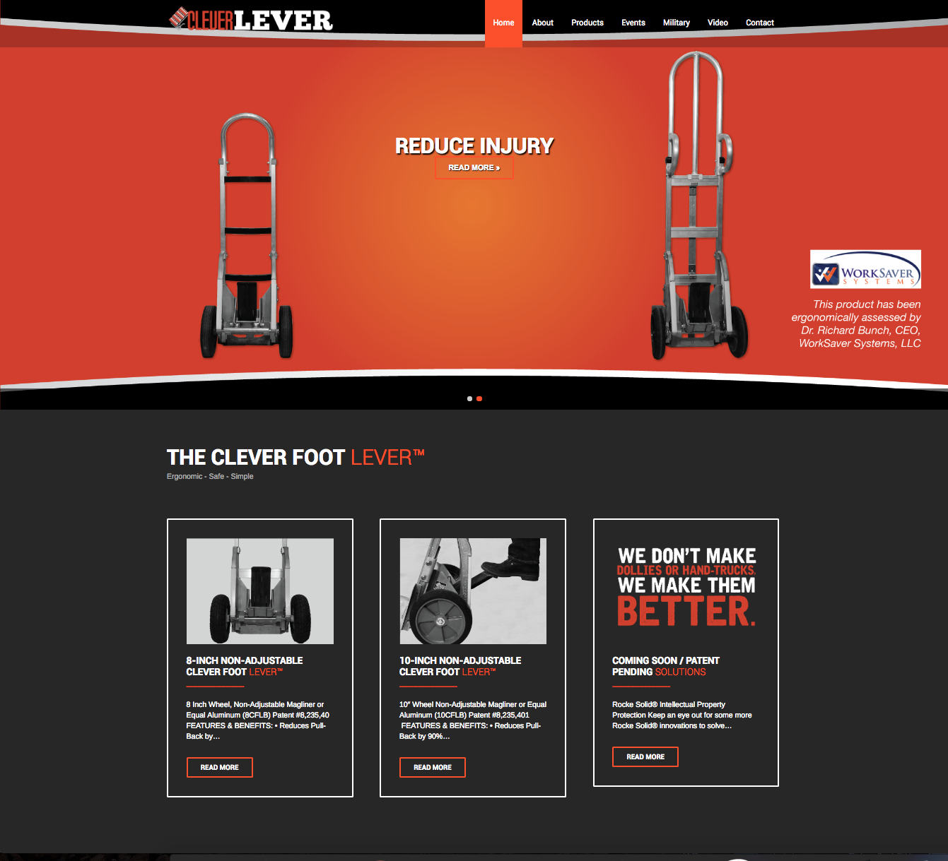 Clever Foot Lever Landing Page