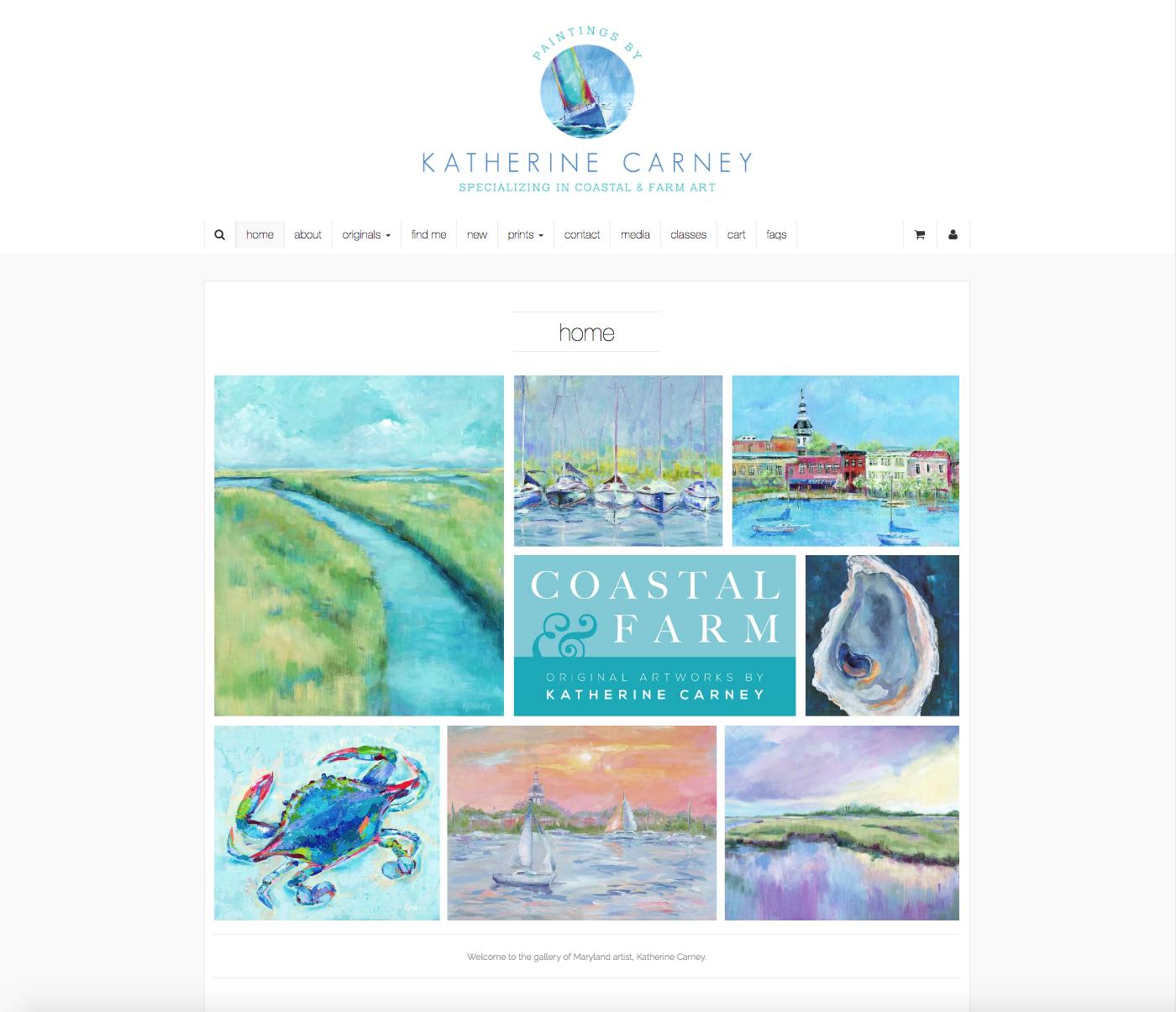 Katherine Carney Landing Page