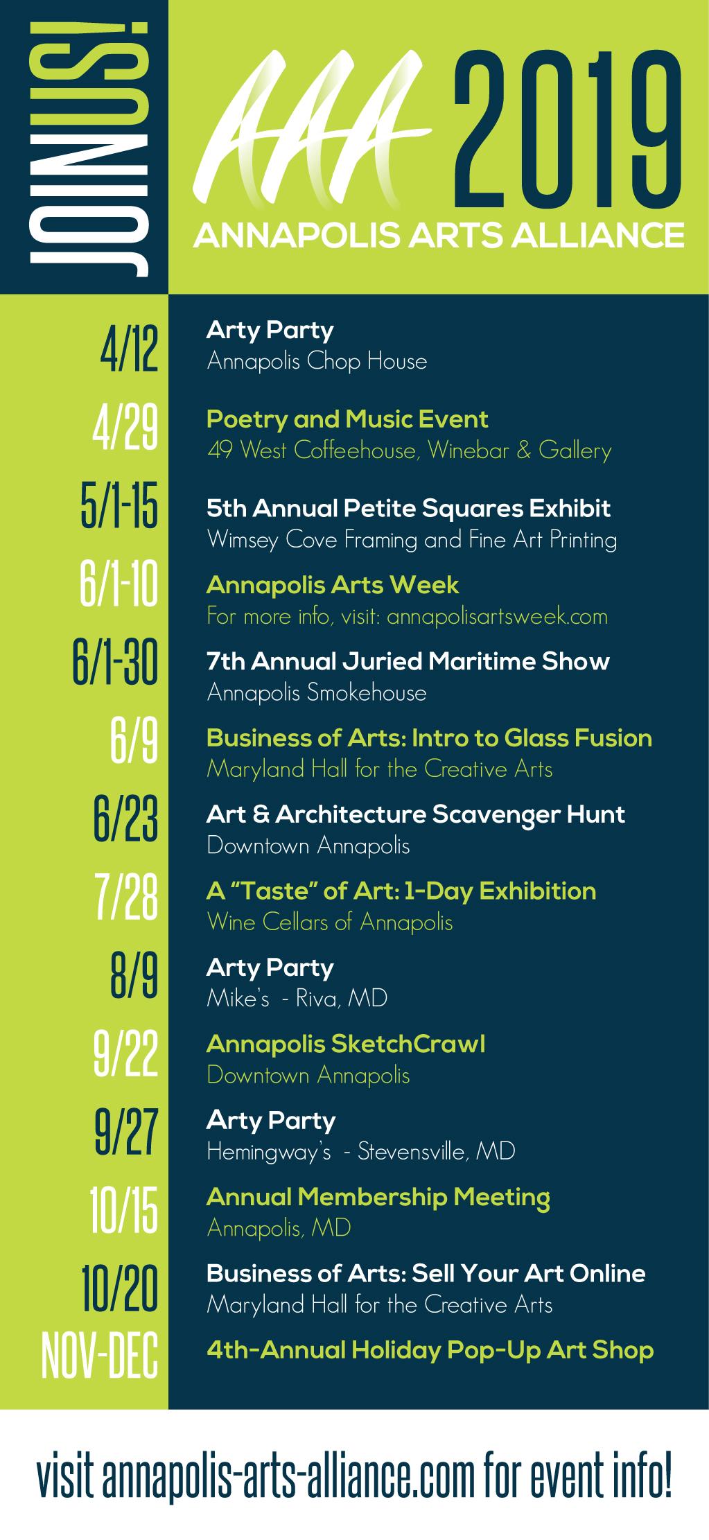 AAA Event Calendar Card