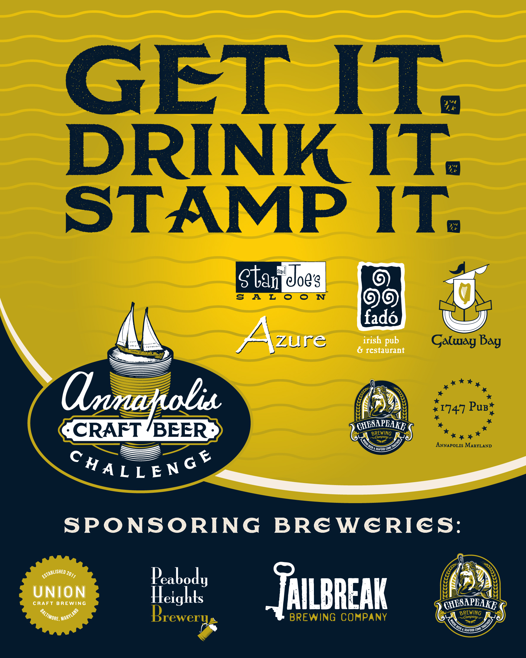 Annapolis Craft Beer Passport Challenge Poster
