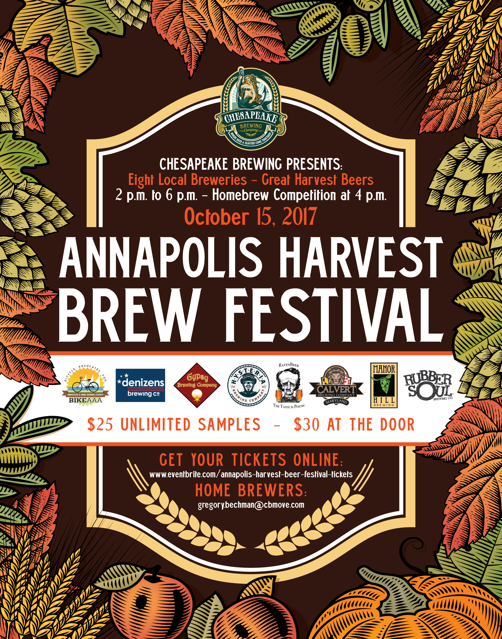 Chesapeake Brewing Fall Harvest Beer Festival