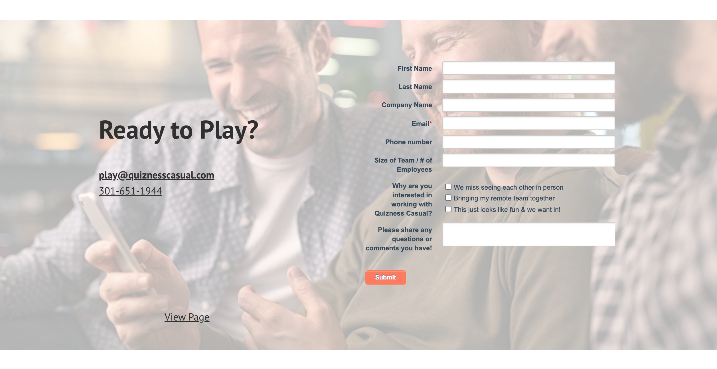 Quizness Casual Contact Page